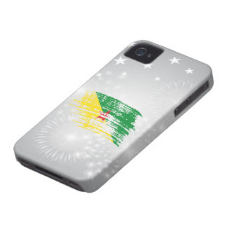 Cool French Guineans flag design Case-Mate iPhone 4 Cases
