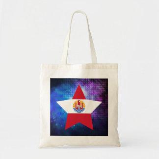Cool French Polynesia Flag Star Budget Tote Bag