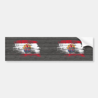 Cool French Polynesian flag design Bumper Stickers