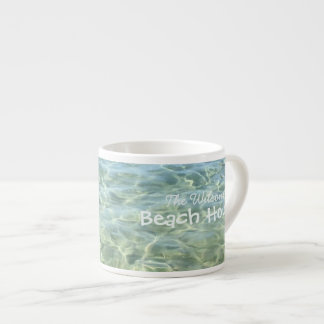 Cool Fresh Seawater Beach House Personalized Espresso Cup