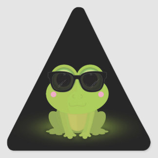 Cool Frog 2 Triangle Sticker