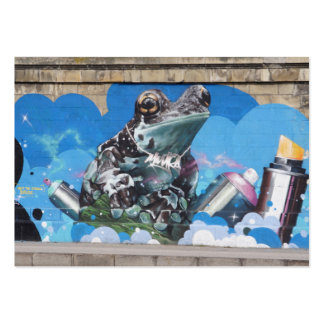 Cool Frog Between Spray Cans Graffiti Large Business Cards (Pack Of 100)