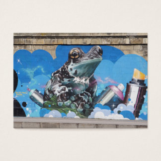 Cool Frog Between Spray Cans Graffiti Business Card
