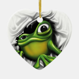 Cool Frog Ceramic Ornament