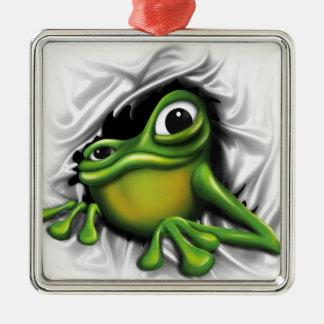 Cool Frog Metal Ornament