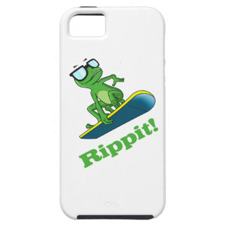 Cool frog on a snowboard, Custom Color iPhone SE/5/5s Case