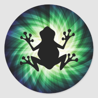 Cool Frog Round Stickers
