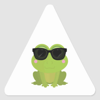 Cool Frog Triangle Sticker