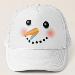 Cool Frosty Snowman Cartoon Trucker Hat