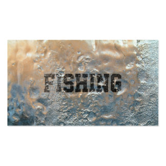 Cool Frozen Ice Fishing Business Card