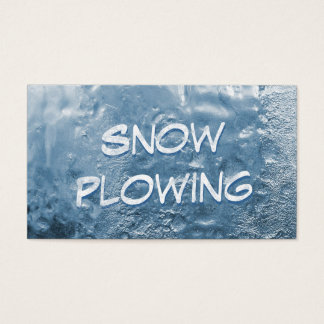 Cool Frozen Snow Plowing Business Card