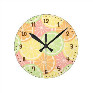 Cool Fruity Summer Teens Room Decor Round Clock