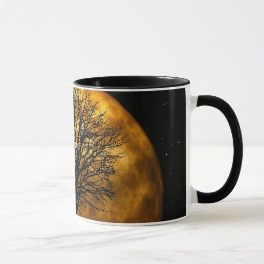 Cool Full Harvest Moon Tree Silhouette Gifts Mug