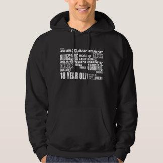 Cool Fun 18th Birthday Party Greatest 18 Year Old Hooded Sweatshirt