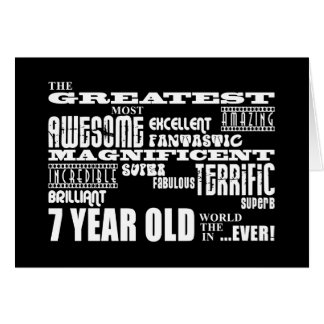 Cool Fun 7th Birthday Party Greatest 7 Year Old Card