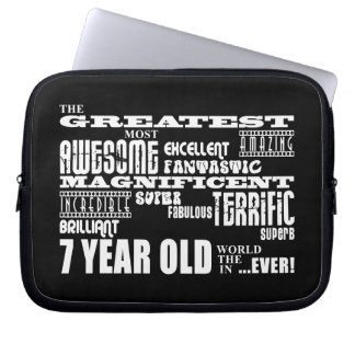 Cool Fun 7th Birthday Party Greatest 7 Year Old Laptop Sleeve