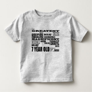 Cool Fun 7th Birthday Party Greatest 7 Year Old T-shirt