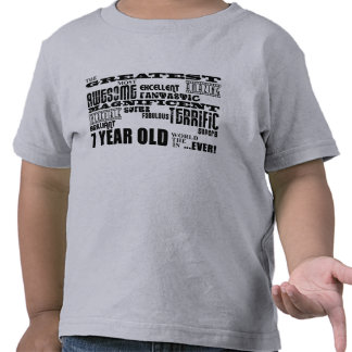 Cool Fun 7th Birthday Party Greatest 7 Year Old Tee Shirt