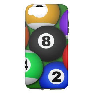 Cool Fun 8 Eight Ball Pool Balls Billiards Durable iPhone 8 Plus/7 Plus Case