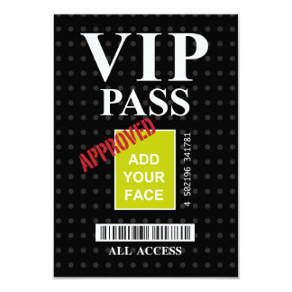 Cool fun black and white customizable VIP Pass… Card