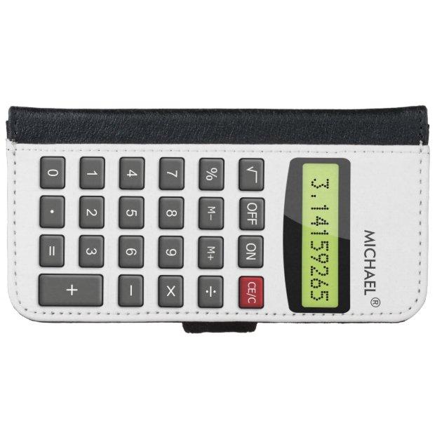 cool fun calculator math pi number digits iphone 6 wallet case