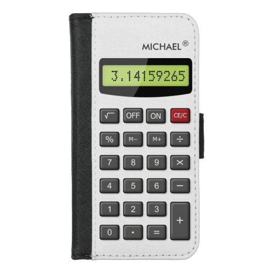 cool fun calculator math pi number digits iphone wallet case