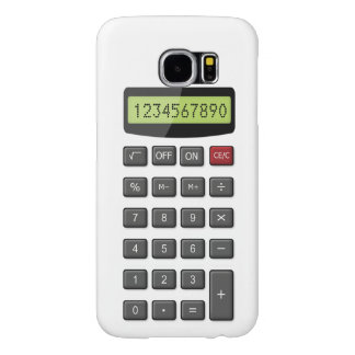 Cool Fun Calculator Pattern with Custom Text Samsung Galaxy S6 Cases