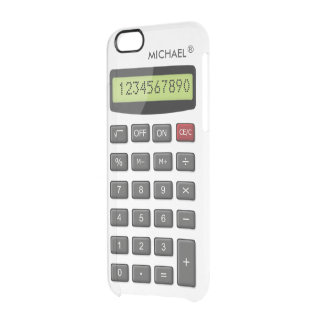 Cool Fun Calculator Pattern with Custom Text Uncommon Clearly™ Deflector iPhone 6 Case