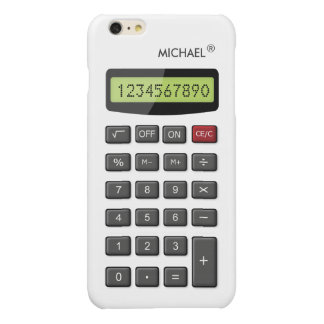 Cool Fun Calculator with Custom Text Glossy iPhone 6 Plus Case