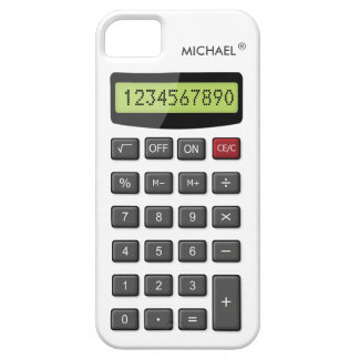 Cool Fun Calculator with Custom Text iPhone 5 Covers