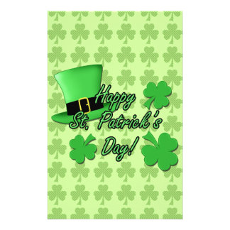 Cool fun Green top hat  Shamrocks St. Patricks Day Flyer