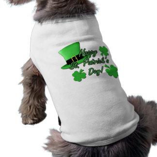 Cool fun Green top hat  Shamrocks St. Patricks Day Tee