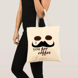 Cool fun I mustache you for coffee Tote Bag
