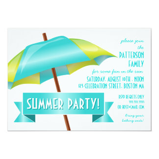Cool Fun in the Sun Summer Party Invitation