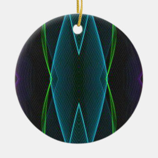Cool Fun Linear Abstract For Him Ceramic Ornament
