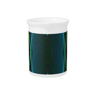 Cool Fun Linear Abstract For Him Drink Pitchers