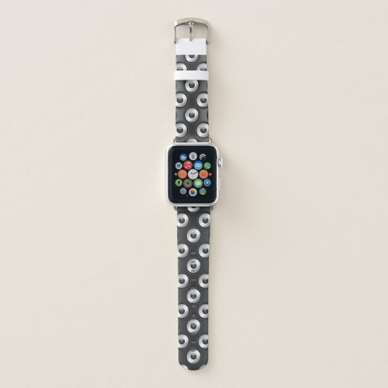 Cool fun Music Speaker design pattern Apple Watch Band