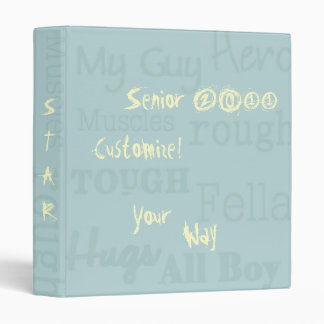 Cool Fun! My Guy School Notebook Custom Binder