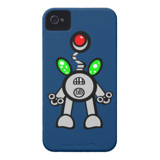 Cool Fun Robot iPhone 4s Cases Blue