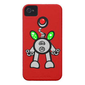 Cool Fun Robot iPhone 4s Cases Red Case-Mate iPhone 4 Cases