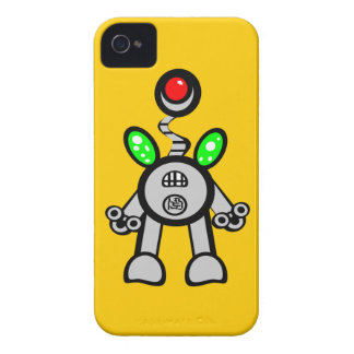 Cool Fun Robot iPhone 4s Cases Yellow
