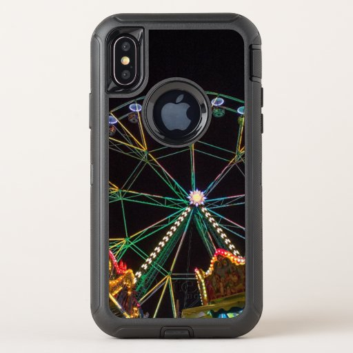 Cool Funfair at Night OtterBox Defender iPhone XS Case