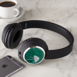 Cool Fungus on Green Headphones