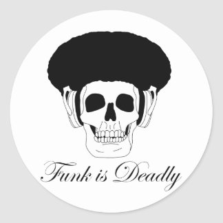 Cool Funk is Deadly skull design Stickers