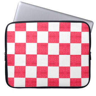 Cool Funky Checkered Patterned Laptop Sleeve