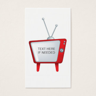 cool funky design for a retro vintage style tv business card