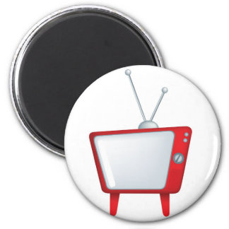cool funky design for a retro vintage style tv magnet