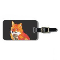 Cool Funky Fox Luggage Tag