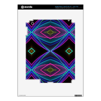 Cool Funky Neon Fluorescent Colored Pattern Skins For iPad 3