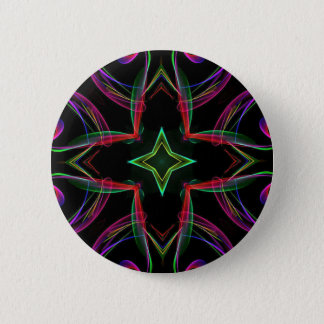 Cool Funky Neon Red Green Purple Abstract Button